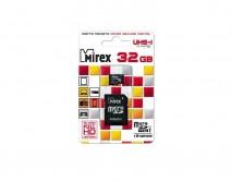 Карта памяти MicroSDHC MIREX 32GB cl10 UHS-I + SD, 13613-ADSUHS32