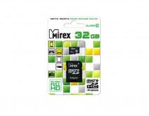 Карта памяти MicroSDHC MIREX 32GB cl10 + SD, 13613-AD10SD32