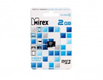Карта памяти MicroSDHC MIREX 2GB cl4, 13612-MCROSD02