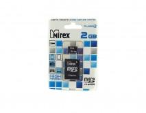 Карта памяти MicroSDHC MIREX 2GB cl4 + SD, 13613-ADTMSD02