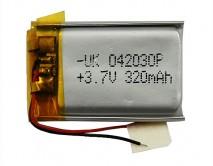 АКБ универсальный 042030P  (4*20*30mm, 320 mAh), для mp3/mp4