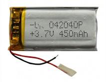 АКБ универсальный 042040P  (4*20*40mm, 450 mAh), для mp3/mp4