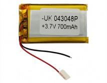 АКБ универсальный 043048P  (4*30*48mm, 700 mAh), для mp3/mp4