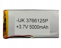 АКБ универсальный 3766125P  (3.7*66*125mm, 5000 mAh)