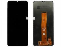 Дисплей Samsung A125F Galaxy A12 + тачскрин черный 1 класс
