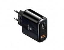 СЗУ-1USB + USB Type-C McDodo CH-7170, PD,20W черный