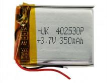 АКБ универсальный 402530P  (4*25*30mm, 350 mAh), для mp3/mp4